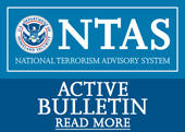 NTAS Active Bulletin button