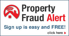 Property fraud Alert button