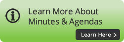 Learn More About Minutes & Agendas button