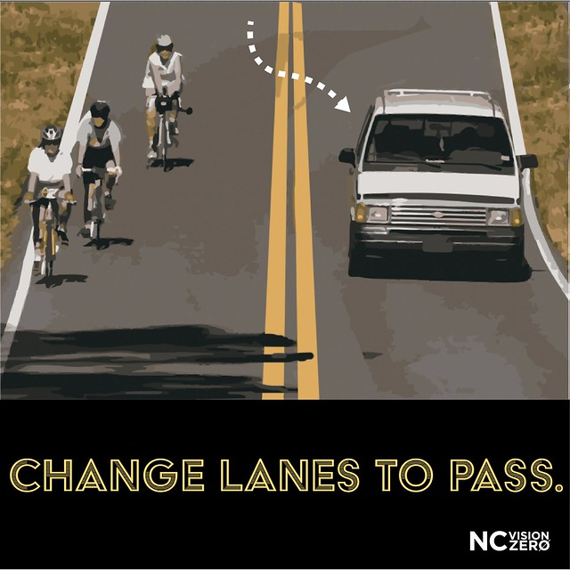 Change lanes to pass