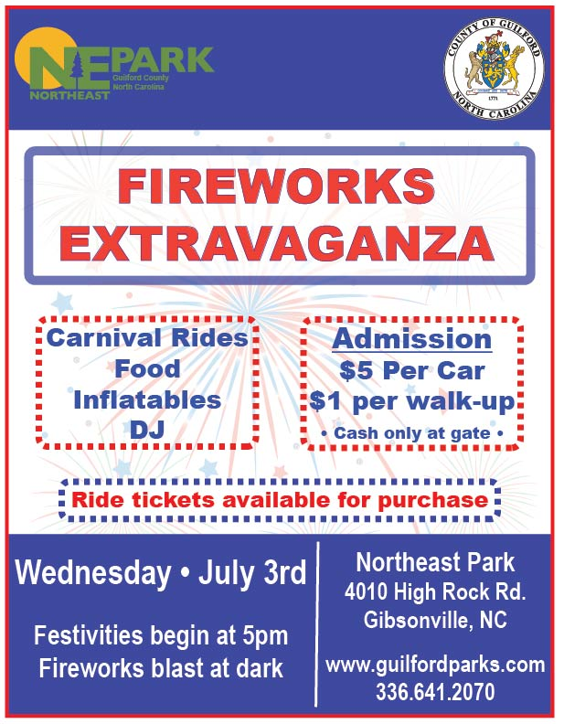 Fireworks Extravaganza   Guilford County, NC