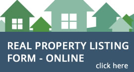 Real Property Listing Form - Online button